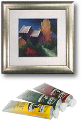 framed pictures, prints and art supplies